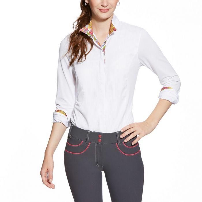 Ariat Triumph liberty Show Shirt Collar - White with Multi Colour Trim