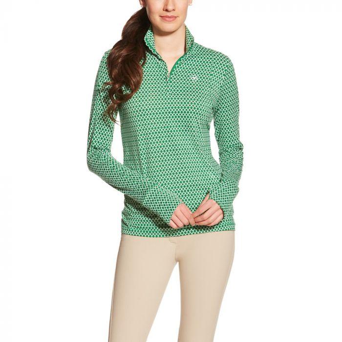 Ariat Womens Lowell 1/4 Zip - Amazon Green
