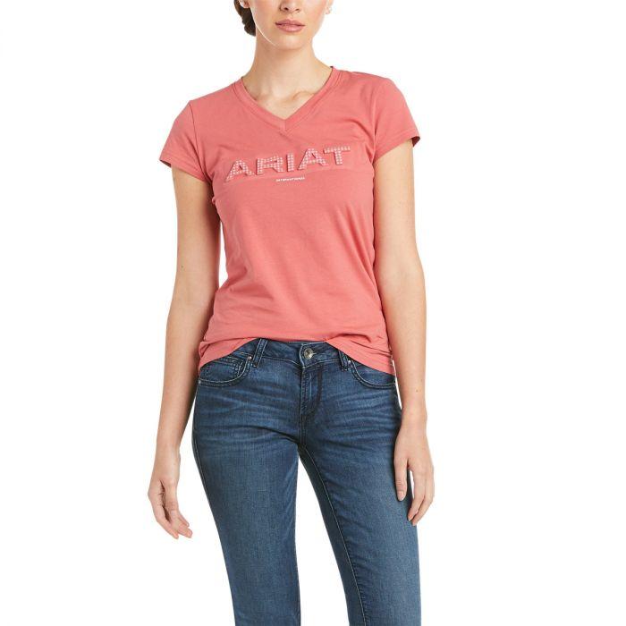 Ariat Ladies 3D logo Tee -  Amaranth