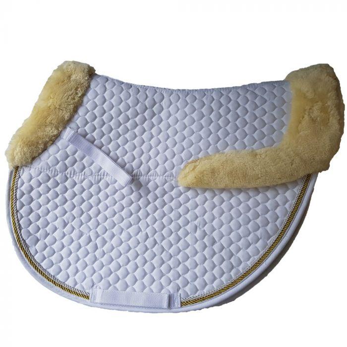 Fleece Trim Jump Saddlecloth - White