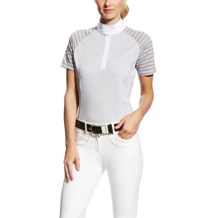 Ariat Ladies Aptos Vent Show Shirt - Gray