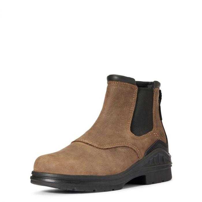Ariat Womens Barnyard Twin Gore II Boot - Antique Brown