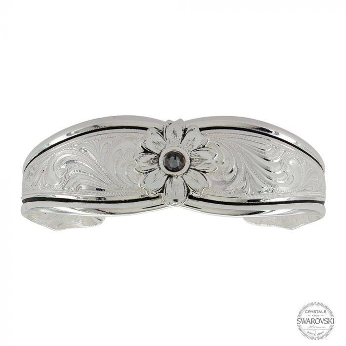 Montana Bracelet - Antiqued Evening Star Flower Cuff Bracelet