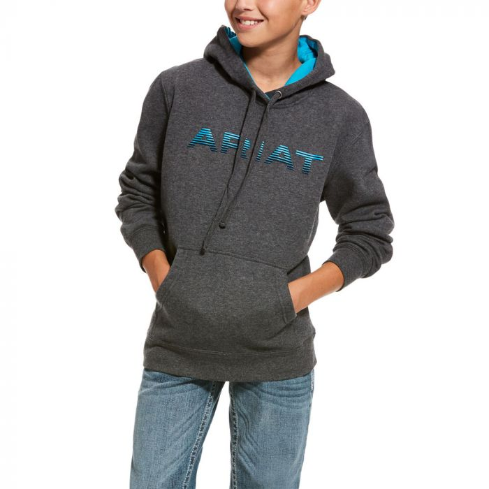 Ariat Boys Graphic Hoodie - Charcoal