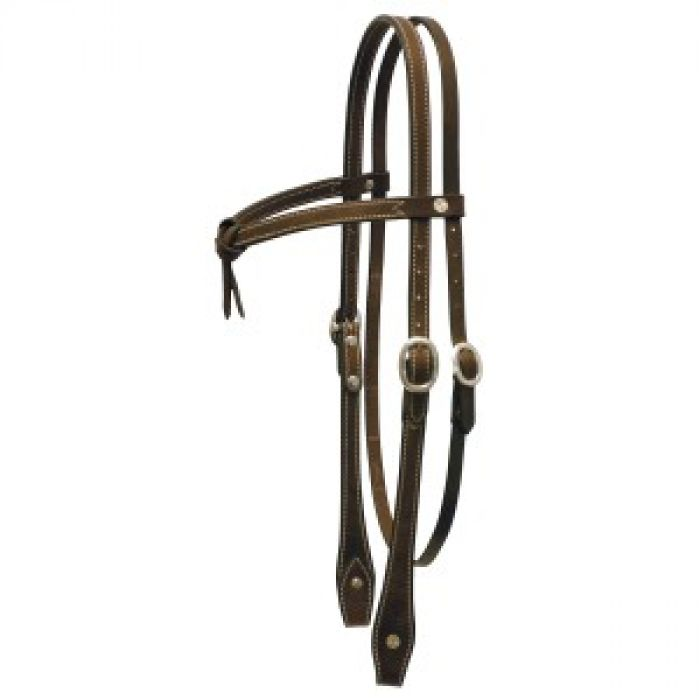 Fort Worth Knotted Brow Headstall - Full