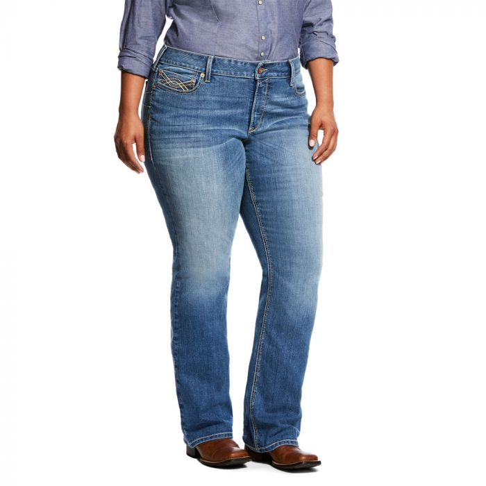Ariat WNS R.E.A.L.Riding Jeans - Mid Rise - Boot Cut - Crossroads Odessa - Plus Size