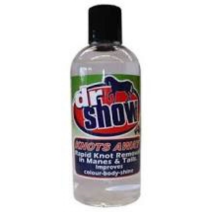Dr Show Knots Away is a high quality pure concentrate formulation containing cosmetic grade ingredients and no added water.