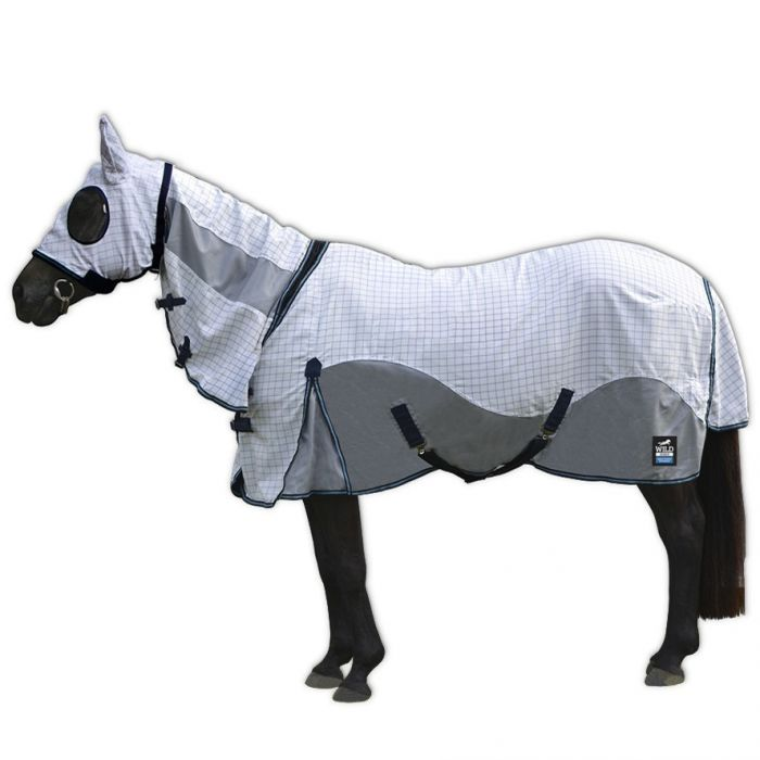 Wild Horse Duo Rug with attached hood