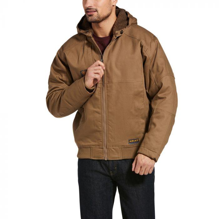 Ariat Mens Rebar DuraCanvas Jacket - Field Khaki - Small Only