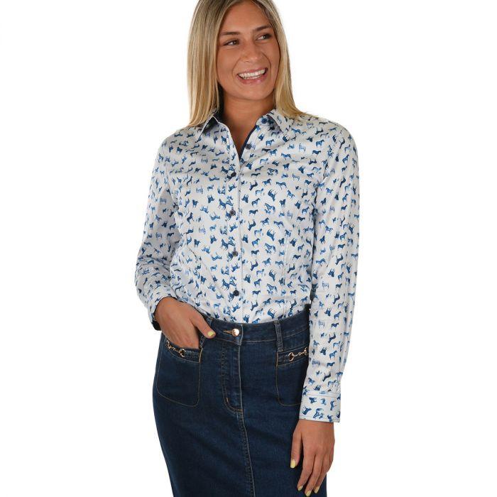 Thomas Cook Ladies Ebony Long Sleeve Shirt