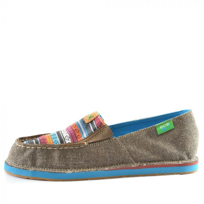 Twisted X Ladies ECO Casual Slip on Loafer - Side - Dust/Multi