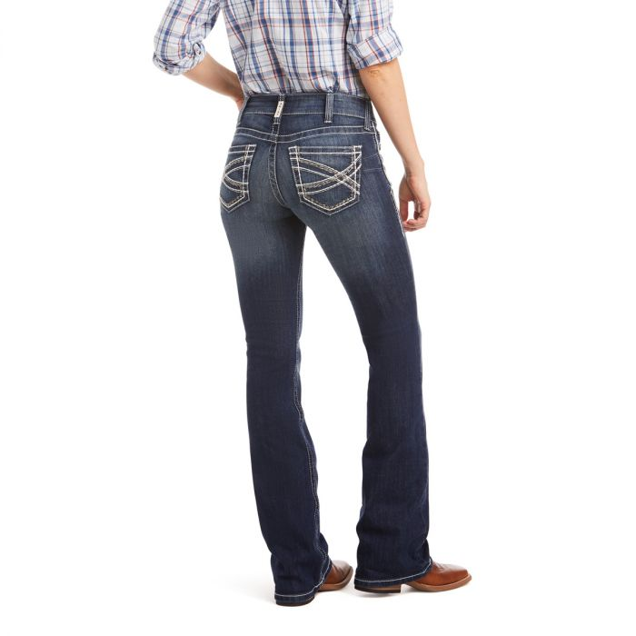 Ariat Women's R.E.A.L. Riding Jeans - Mid Rise - Boot Cut - Entwined Marine