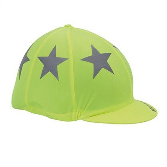 Shires EQUI-FLECTOR Helmet Cover - Yellow
