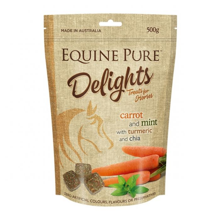 Equine Pure Delights Treats 500g - Carrot