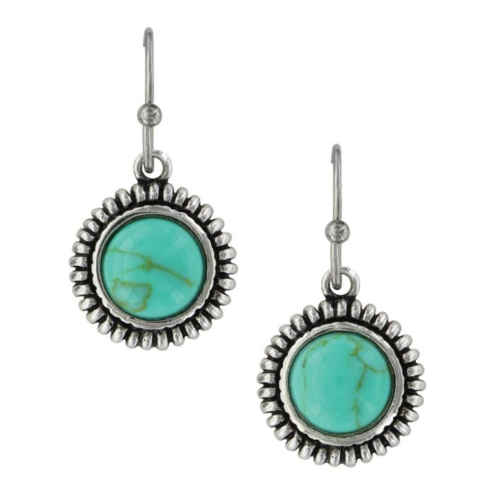 Montana Earrings - Turquoise Sunflower