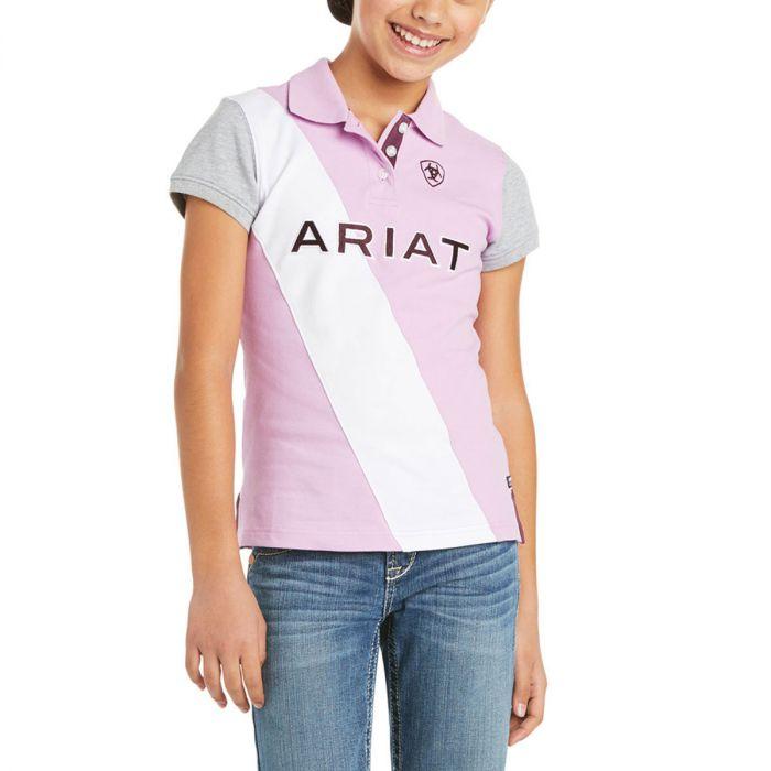 Ariat Girls Taryn Polo Shirt - Violet Tulle