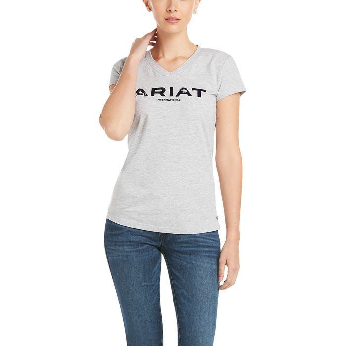Ariat Ladies Icon Logo Tee - Heather Grey