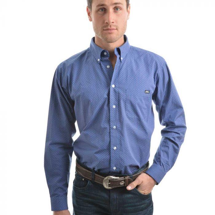 Pure Western Mens Jethro Print Long Sleeve Shirt