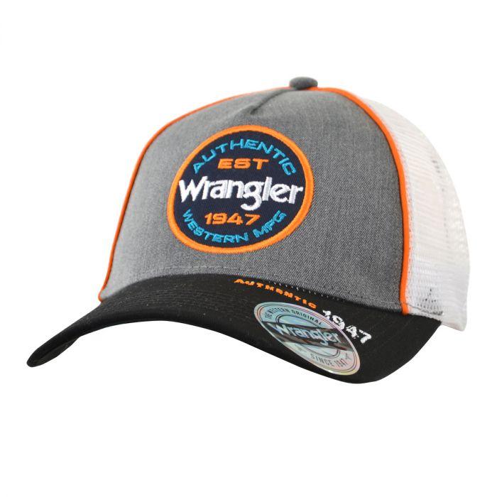Wrangler Ledger Trucker Cap - Charcoal Marle