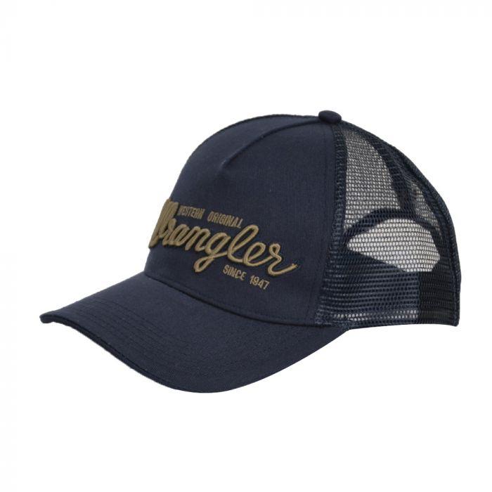 Wrangler Logo Trucker Cap - Navy