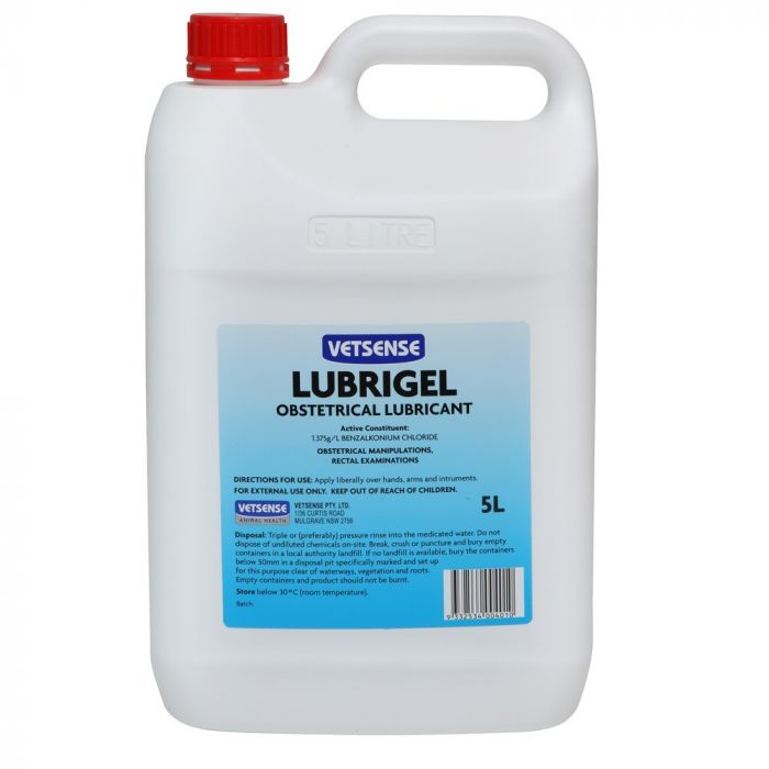 Vetsense Lubrigel Obstetrical Lubricant 5L - for horses