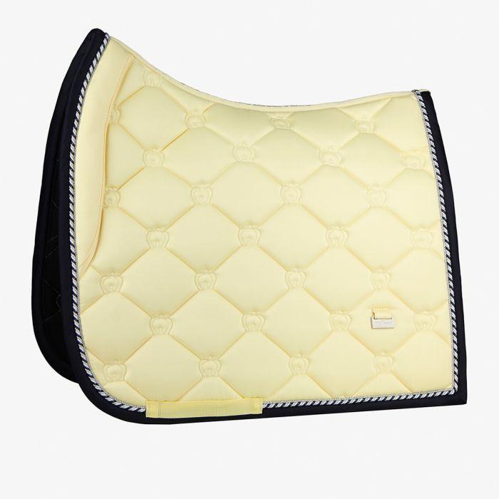 PSOS Monogram Dressage Saddle Pad - Lemon - Full