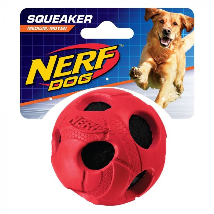Nerf Dog Squeaker Tennis Ball - Red Large