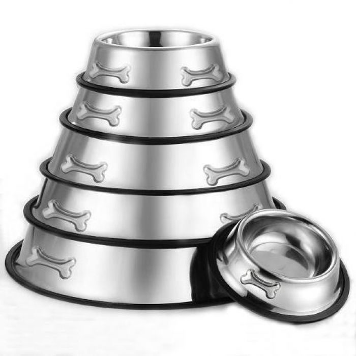 Non-Skid Dog Bowl Stainless Steel