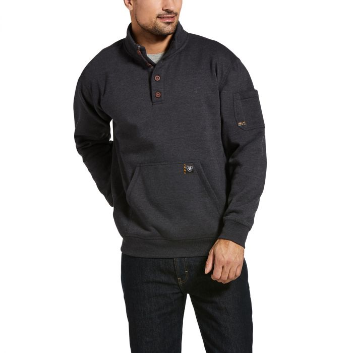 Ariat MENS Rebar Overtime Sweater - Charcoal Heather