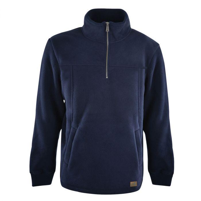 Dux Back Mens Pacific Bonded Fleece Zip Pullover - Navy