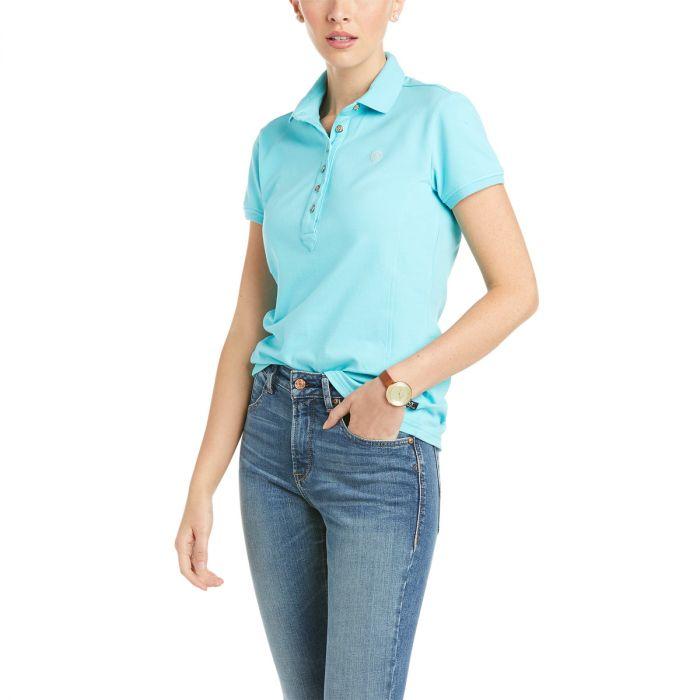 Ariat Ladies Prix Polo Shirt - Cool Blue