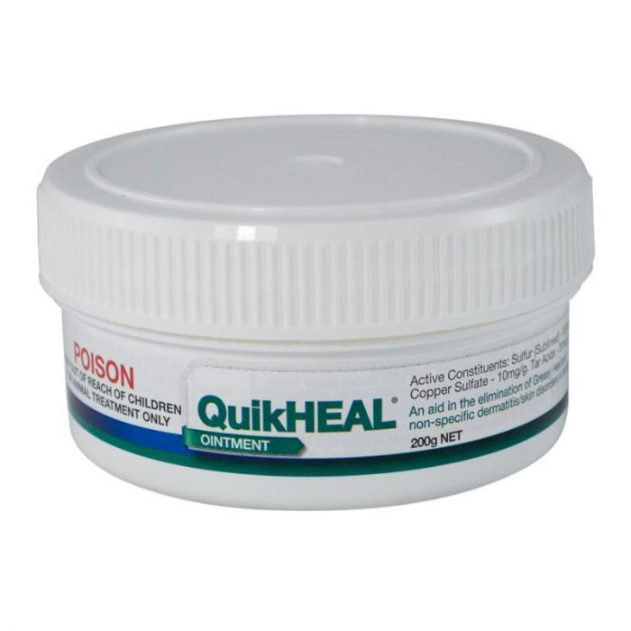 Kelato Quikheal - An aid in the elimination of Greasy Heel and Non-specific dermatitis / skin disorders in horses