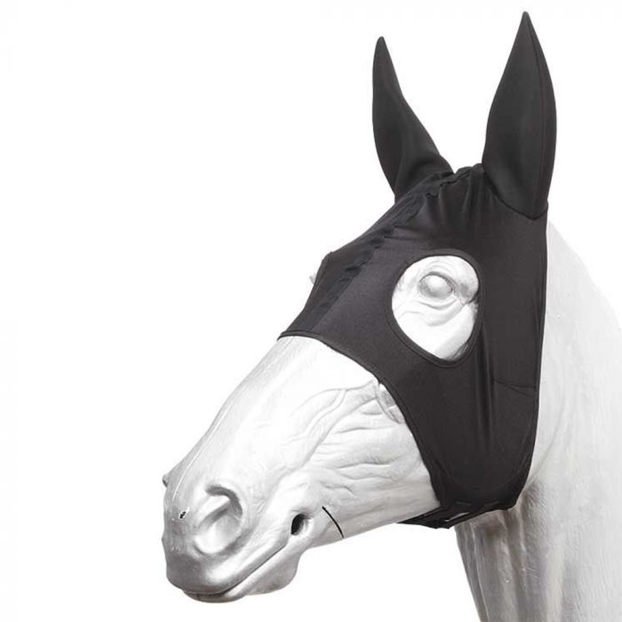 Race Hood with Neoprene Ears - Black