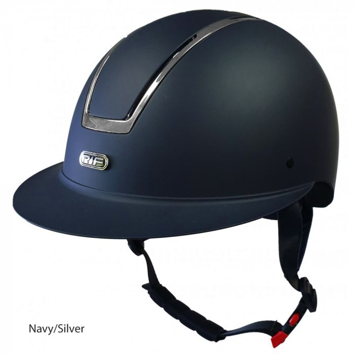 RIF Classic Riding Helmet - Navy / Silver