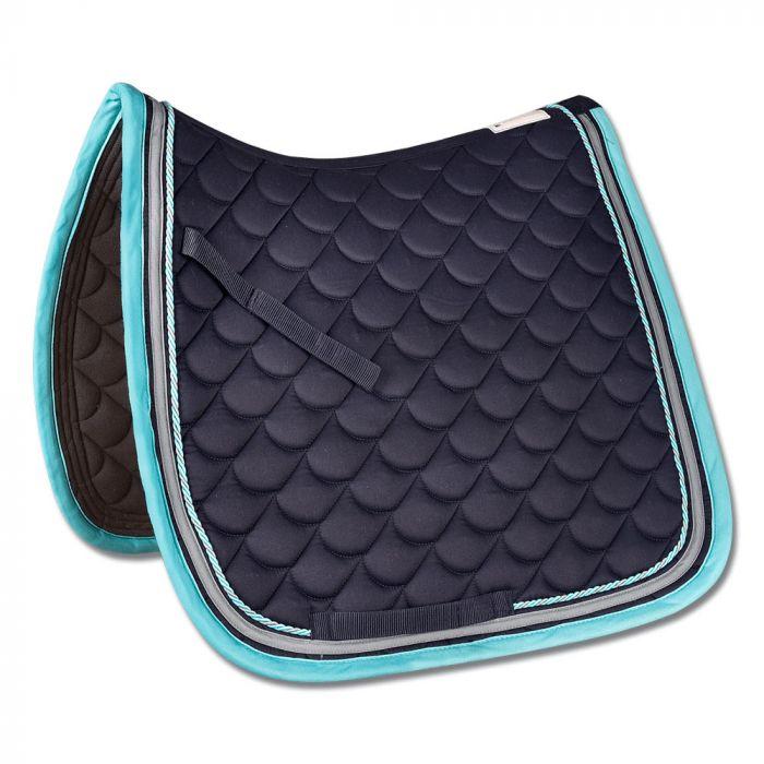 ROM Dressage Saddle Cloth - Navy / Aqua