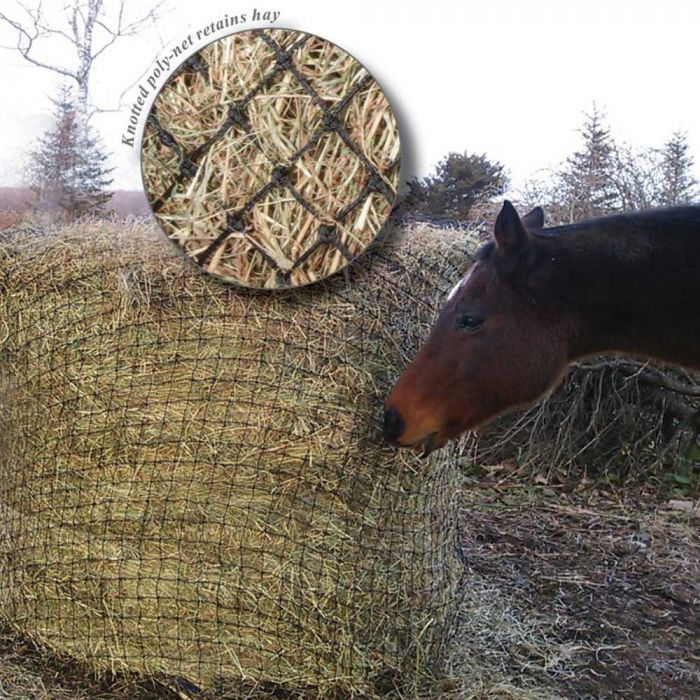 """Showmaster Round Bale Poly Slow feed Hay Net 4' * 4"""""""