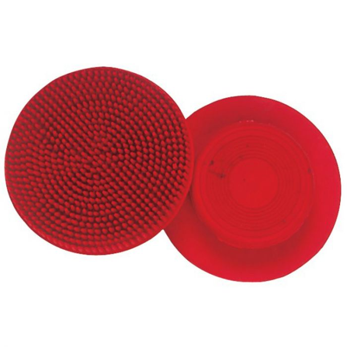 Rubber Face Curry Comb - Red