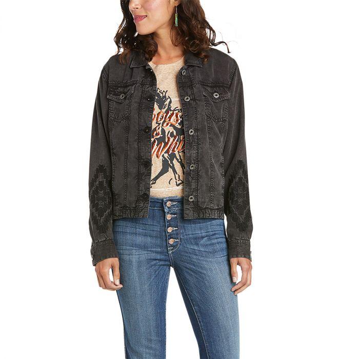 Ariat Womens Saloon Trucker Jacket - Black