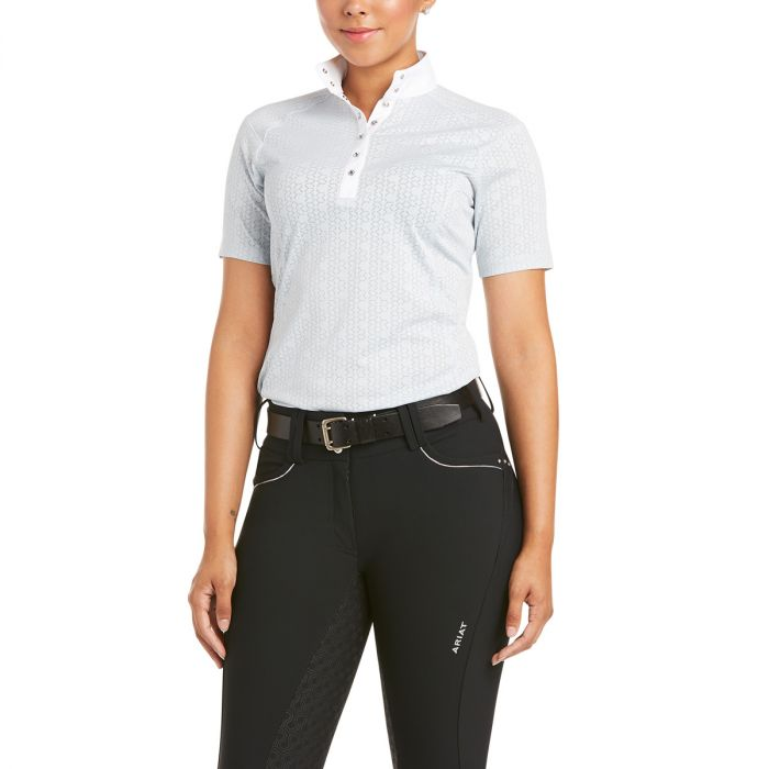 Ariat Ladies Showstopper 3.0 Show Shirt - Pearl Grey