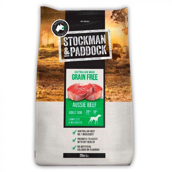 Stockman & Paddock Grain Free Adult Dog Food Beef - 20kg