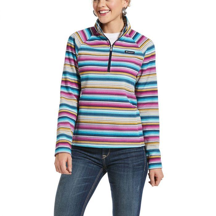 Ariat Womens Real Comfort 1/2 Zip Sweatshirt - Serape Print