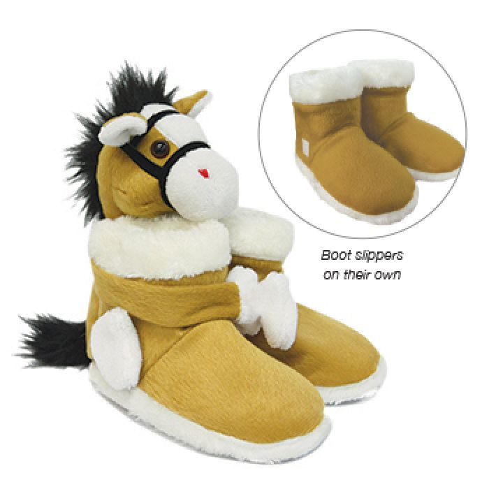 Thomas Cook Fur Pony Boot Slippers