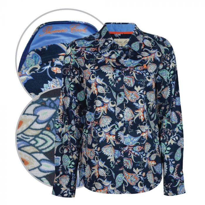 Thomas Cook Olivia Long Sleeve Print Shirt