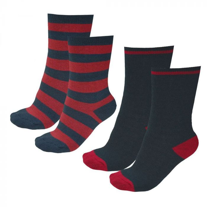 Thomas Cook Thermal Socks - Navy and Red