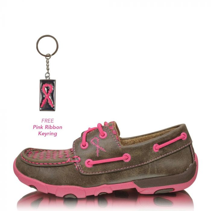 Twisted X Ladies Slip-On Driving Moc - Neon Pink