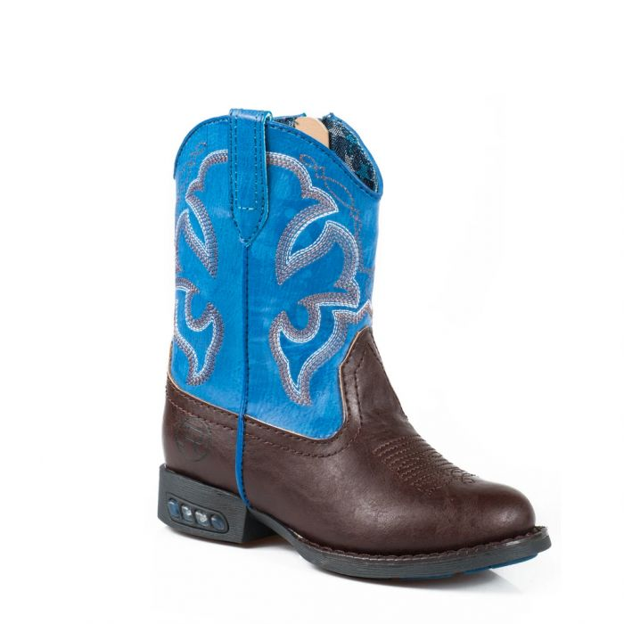Roper Toddler Lightening Boots - Blue