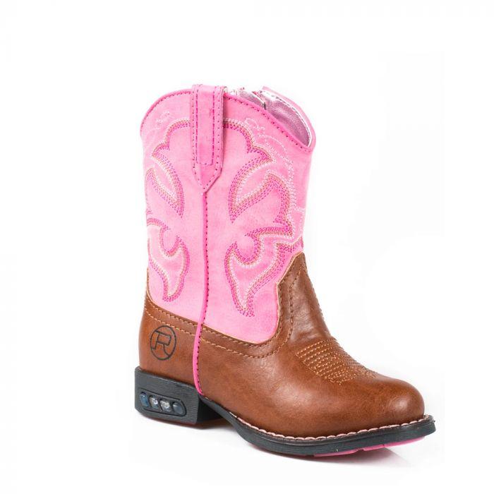 Roper Toddler Lightening Boots - Pink - 5