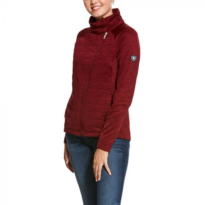 Ariat Womens Vanquish Full Zip Jacket - Cabernet