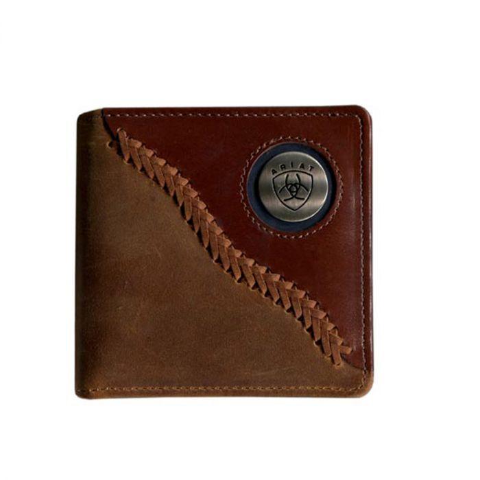 Ariat Men's Bifold  Wallet - Two-tone Brown