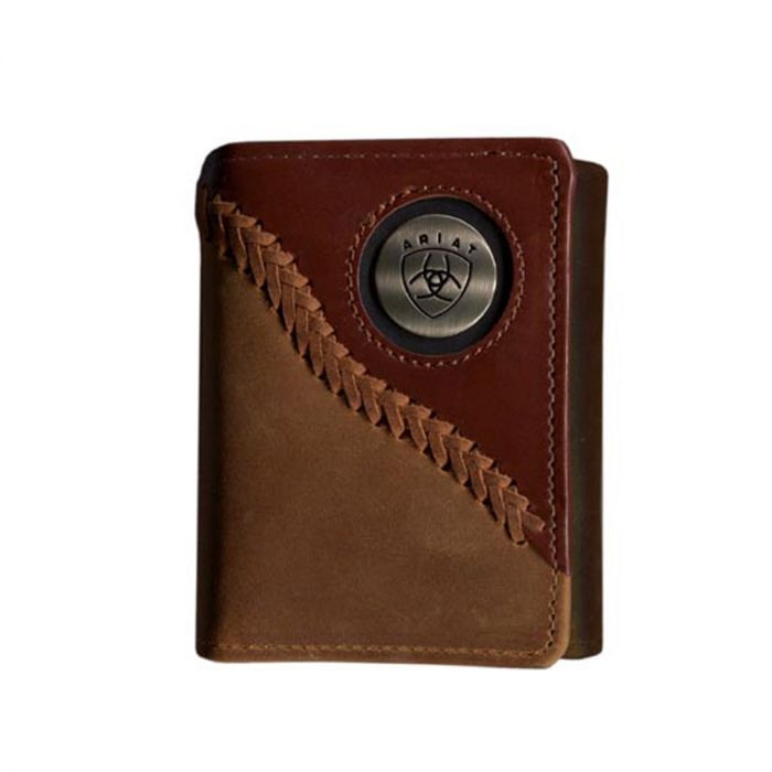 Ariat Men's Tri-Fold Wallet - Brown